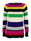 American Living Women's Striped Long Sleeves Sweater