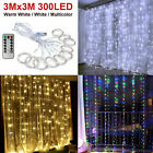 Kyпить 300LED/10ft Curtain Fairy Hanging String Lights Wedding Bedroom Home Decor US на еВаy.соm