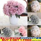 5 Head Bouquet Artificial Silk Fake Large Party Peony Flowers Wedding Home Decor