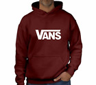 Maroon and White Vans hoodie, Sizes S - XXL, Top Quality