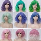 Women Lolita Ombre Short Full Wigs Lady Curly Cosplay Party Fancy Dress Hair US