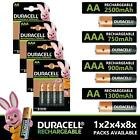 GENUINE DURACELL ULTRA RECHARGEABLE BATTERIES PRE-CHARGED DURALOCK AAA AA 9V C D