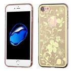 For iPhone 7 / 8 Phoenix-tail Flowers Electroplating Soft Gummy Shell Cover Case
