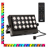 SANSI 100W RGB LED Flood Light with Plug, 16 Colors 4 Modes Color Changing Party