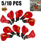 5/10Pcs Chicken Poultry Water Drinker Cup Coop Bowl Automatic Pigeon Farm Feeder