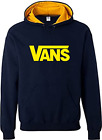 Navy and Yellow Vans hoodie, two tone, Sizes S - XXL, Top Quality