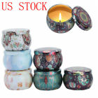 10 Metal Tin Jars Coffee Tea Candy Storage Case Candle Making Container Box 4 oz