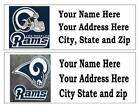 60 NFL LOS ANGELES RAMS RETURN ADDRESS LABELS MANY CHOICES FREE SHIPPING $6.99 USD on eBay