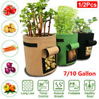 7 10 Gallon Potato Planting Bag Pot Planter Growing Garden Vegetable Container
