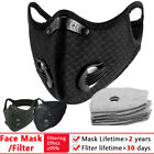 Reusable Face Mask With Activated Carbon Filters Washable Outdoor Face Cover