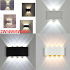 2/4/6/8W LED Wall Lights Up/Down Indoor Lamp Modern Sconce Fixture for Bedroom