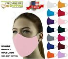 StoreInventoryface mask triple layers 100% cotton washable reusable with pocket. unisex