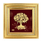 Golden Leaves Money Tree Gold Foil Painting Tree of Life Wall Art Pictures Decor
