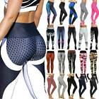Women Sport Compression Leggings High Waist Yoga Pants Butt Lift Gym Fitness Hot