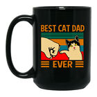 Best Cat Dad Ever Black Coffee Mug