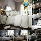 Luxury Duvet Quilt Cover Bedding Set with Pillowcase Single Double King Size