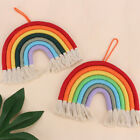 Hand Woven Rainbow Macrame Tapestry,Wall Hanging Nursery Room Cloud Room Decor