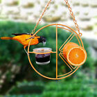 Round Metal Hummingbird Feeder Outdoor Hook Type Bird Water Fruit Dispenser Hot
