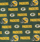 NFL Green Bay Packers Cotton Fabric - 4 Fabric Cuts Available $8.0 USD on eBay