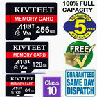 KIVTEET 256GB Micro Memory Card Class10 Fast Flash 108MB/S TF Camera Phone Car