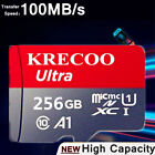 256GB MicroData High Speed Card HC TF-Memory-Cards for Phone Camera with Adapter