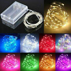 'Uk 20/50/100 Led Battery Micro Rice Wire Copper Fairy String Lights Party White