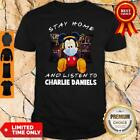 Mickey Mouse Mask Stay Home And Listen To Charlie Daniels Shirt