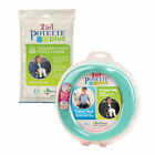 Potette Teal Potty Training Bundle - 1 Potette + 30 Disposable Liners