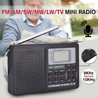 Digital World Full Band Radio Receiver AM/FM/SW/MW/LW Radio Alarm Clock Earphone