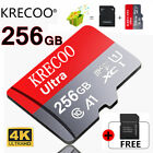 Micro Memory Card 256GB 4K Class10 Fast Flash TF Card with Adapter Phone Camera