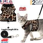 Cat Harness & Leash Escape Proof Adjustable Jacket Reflective Walking Outdoor