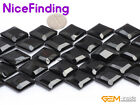 Natural Rhombus Black Agate Onyx Gemstone Beads For Jewelry Making Strand 15* NF