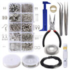 Diy Wire Jewelry Making Starter Sterling Silver & Repair Tools Craft Supply Box