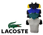 Lacoste Mens Slim Polo Shirt Cotton Short Sleeve Colorblock Golf 2 Button New
