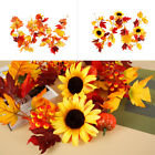 175cm Artificial Maple Leaves Garland Hanging Plant Wreath Autumn Home Decor