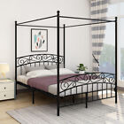 Canopy Bed Frame Queen Mosquito Net Bed Luxury Bedroom Furniture
