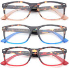 Classic Reading Glasses Fashion Spring Hinged Reader Rectangular Two Tone Color
