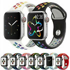 Silicone Strap Iwatch Band For Apple Watch Series 1/2/3/4/5/6/se 38/40/42/44mm
