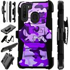 Luxguard For Samsung Galaxy A Series Phone Case Holster Cover PURPLE CAMO