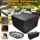 Waterproof Outdoor Patio Furniture Cover Garden Rattan Table Chair Set Cover
