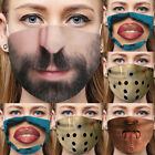 3d-print Funny Face Mask Protective Covering Washable Reusable Adult-unisex Hot