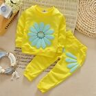 Girls Floral Clothing Children Christmas Wear Sportswear Clothes Pants