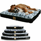 Soft Faux Suede Plush Orthopedic Pet Dog Bed Cushion Waterproof Detachable Cover