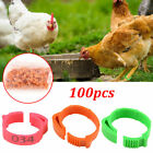 100x Poultry Bands Foot Ring Leg Clip For Chicken Duck Bird Pigeon Parrots New