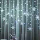 LED Snowflake Fairy String Lights Curtain Window Christmas Party Weding Decor UK