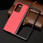 For Samsung Galaxy Z Fold 2 5G Shockproof Slim Hybrid PU Leather Hard Case Cover