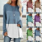 Womens Long Sleeve Shirt Tops Tunic Casual Plus Size Pullover Blouse Sweatshirt