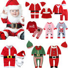 Kids Newborn Baby Boy Girl Christmas Home Party Santa Claus Costume Outfits Set