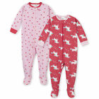 Gerber Baby 2-Pack Baby Girls Unicorn Footed Unionsuit Pajamas