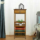 Solid Stable Tiered Wood Side End Table Night Stand Home Storage Furniture Decor